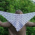 Lacy pineapple shawl