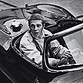 William claxton, steve mcqueen in his jaguar xk55, hollywood, 1962