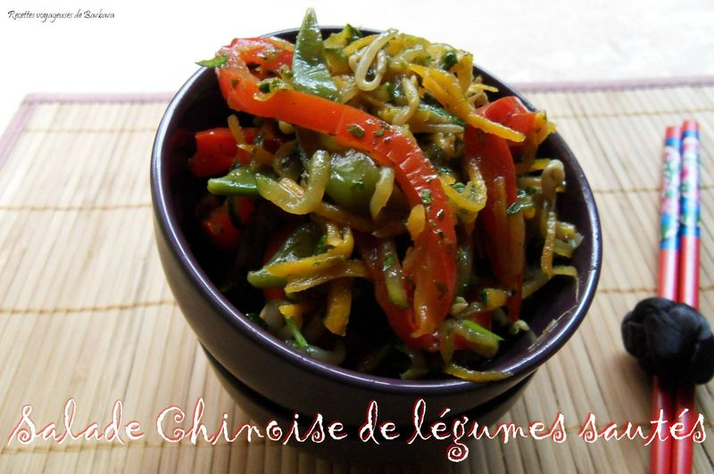 salade chinoise de l gumes saut s recettes voyageuses de barbara. Black Bedroom Furniture Sets. Home Design Ideas