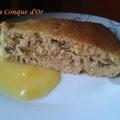 Gâteau à l'orange,au café, chocolat et sa crème à l'orange
