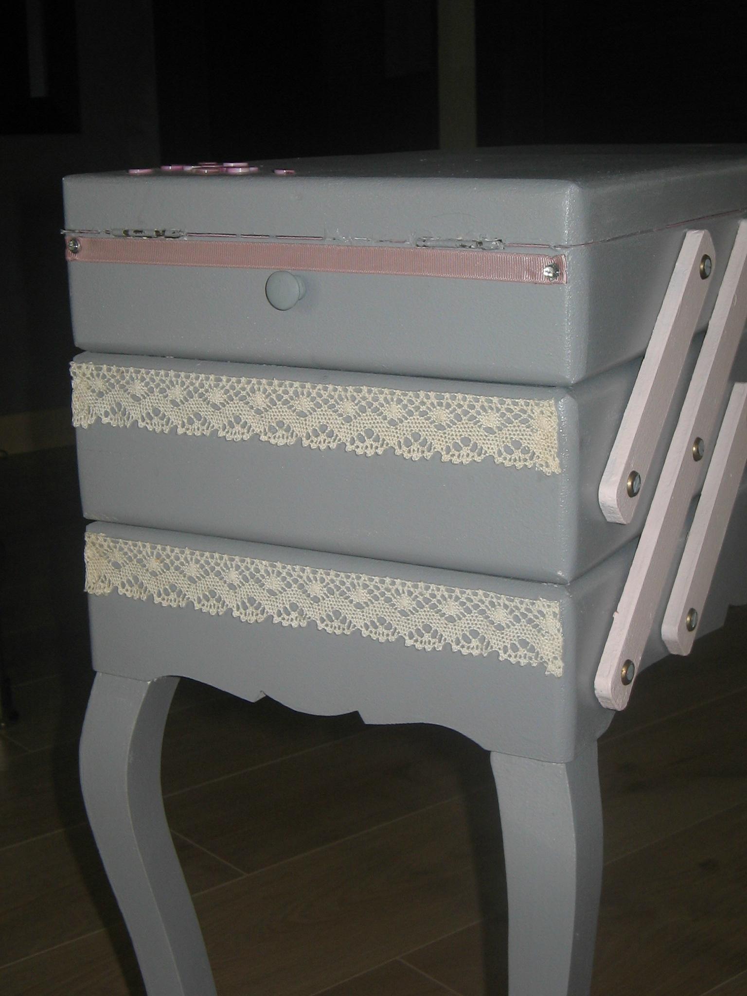 Travailleuse relooking de meubles nadr nov for Meuble couture travailleuse