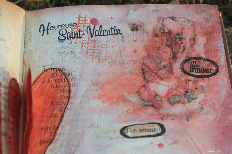 art journal -st-valentin 2