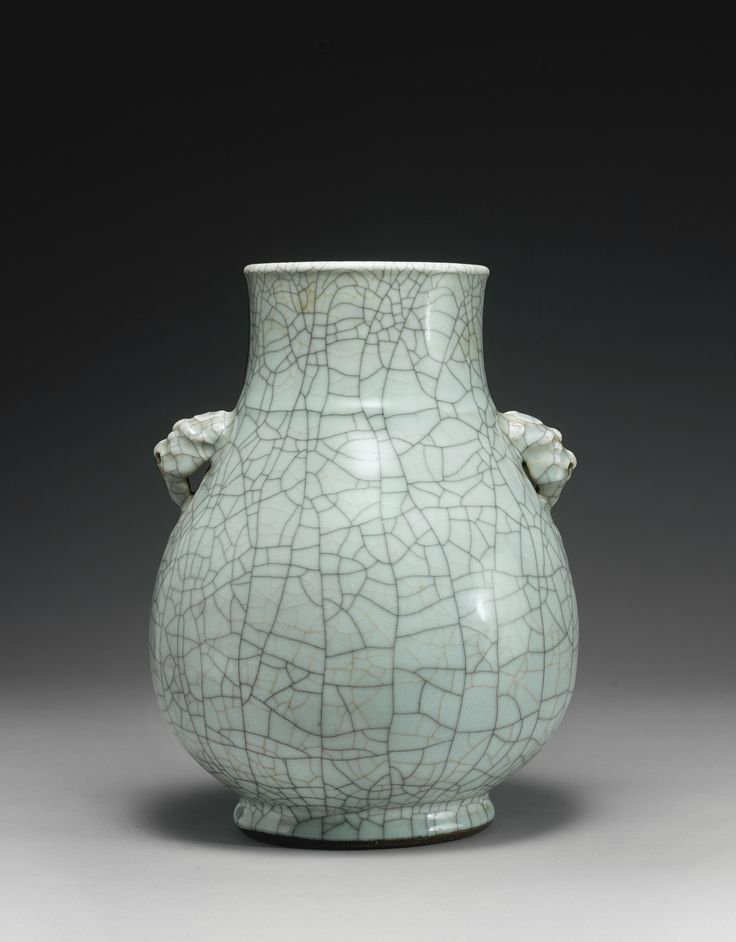 A rare guan-type vase, hu, Qianlong seal mark and period
