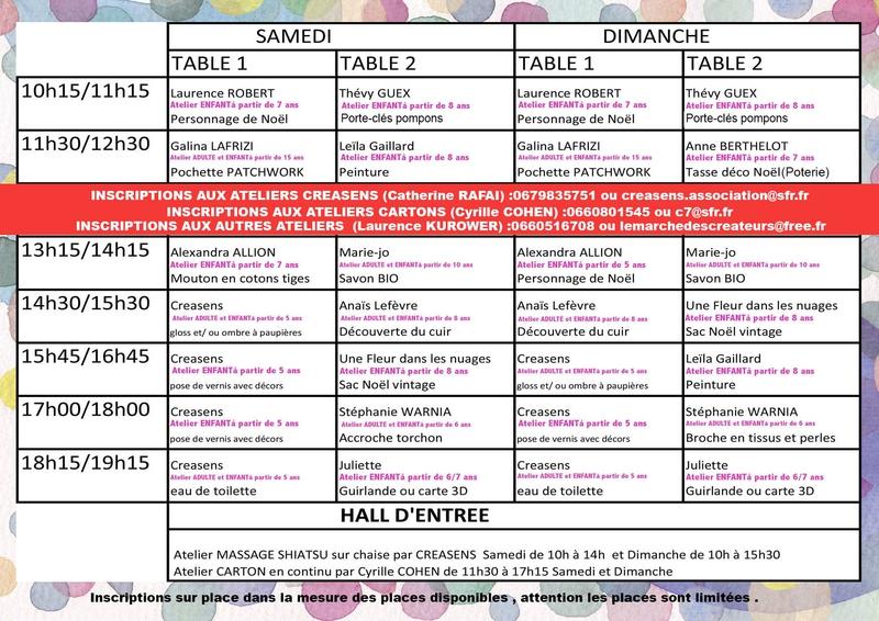 flyer Noël 2014 intérieur programme