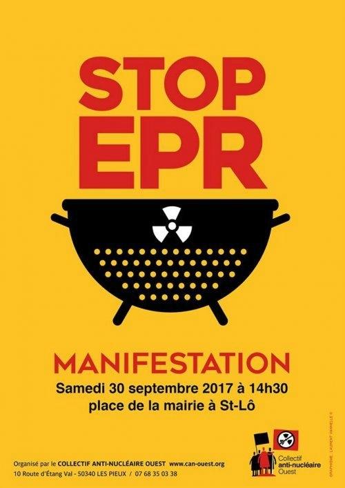 Samedi 30 septembre 2017, Manifestation « Stop- EPR » à Saint-Lô ( Manche ).