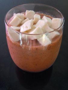 gaspacho tomates-mozzarella