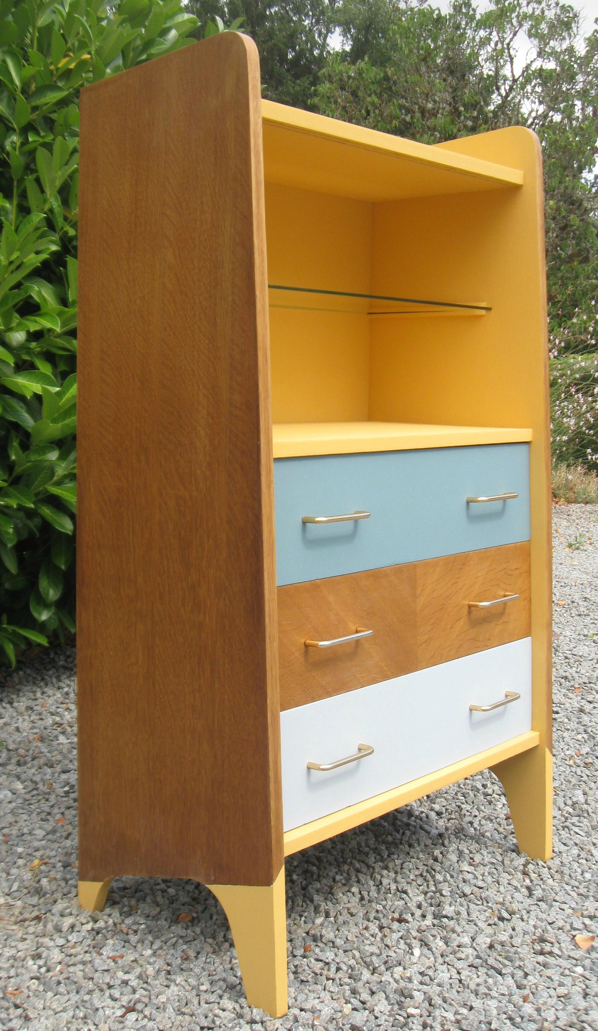 Commode bibliotheque maryse vintage relook e pi ce unique relo - Bibliotheque annee 50 60 ...