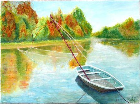 Barque sur la Loire -40x30-