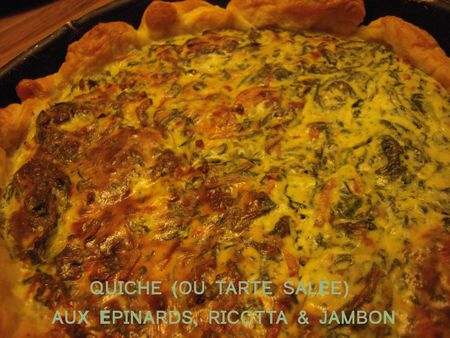 QUICHE epinards ricotta