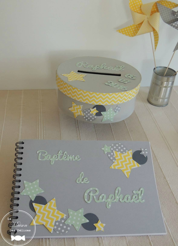 D coration bapt me ou baby shower th me toile vert mint for Decoration jaune