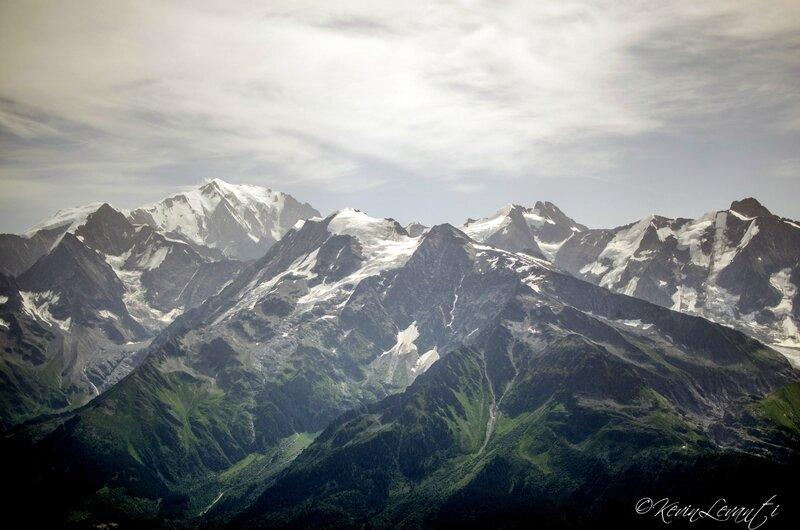 Mt Blanc et Glacier de la Bérangère