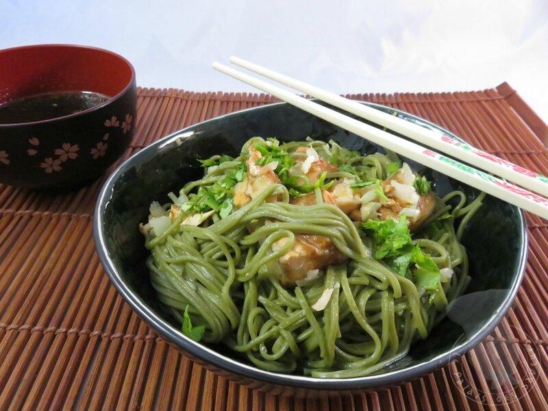 Soba au saumon tériyaki