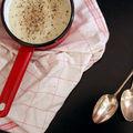 Soupe de topinambours aux croûtes de parmesan
