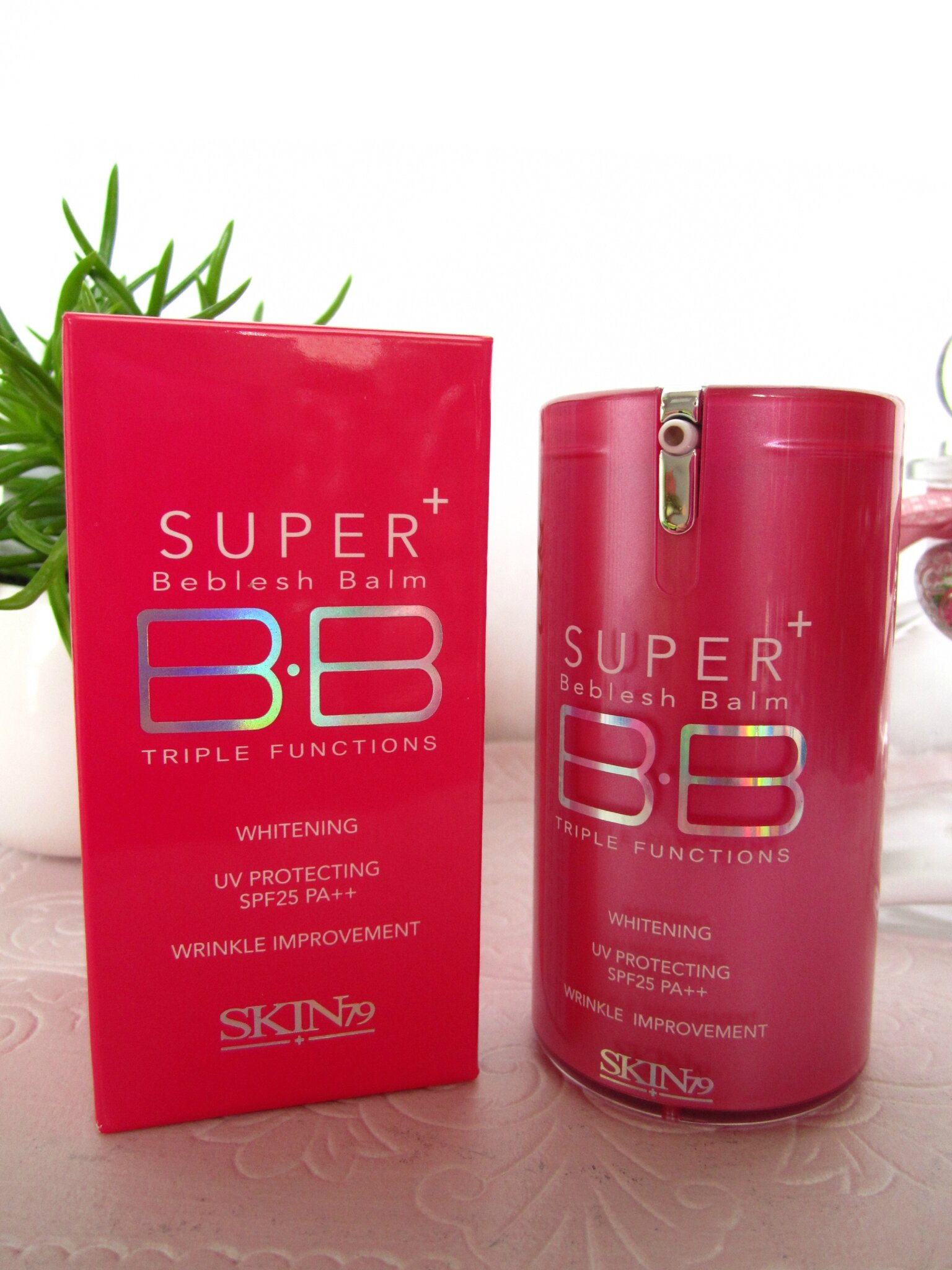test bb cream hot pink super plus spf 25 pa de skin79 chez ma bb cr me k buki. Black Bedroom Furniture Sets. Home Design Ideas