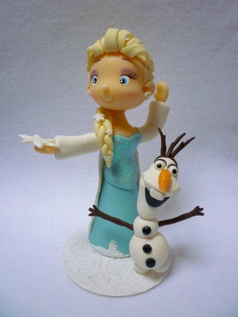 Reine des neiges et olaf la porcelaine froide de mimi - Olafe la reine des neiges ...