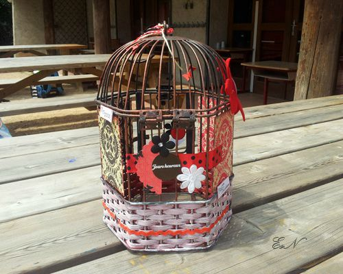 scrapbooking d co cage oiseau. Black Bedroom Furniture Sets. Home Design Ideas