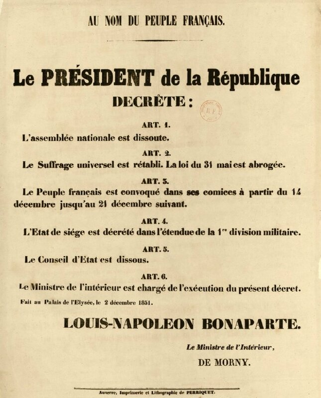 décret 2 déc 1851