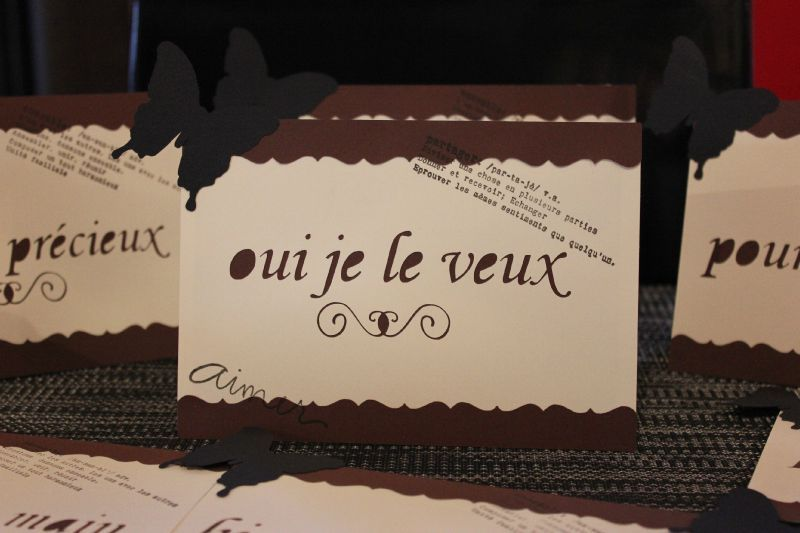 """Bien connu Etiquettes tables de mariage """"mots doux"""" - Atelier graines d'idées FT75"""