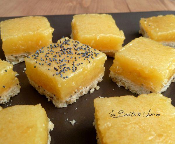 Carrés au citron pavot