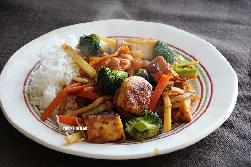tofu au caramel & combava