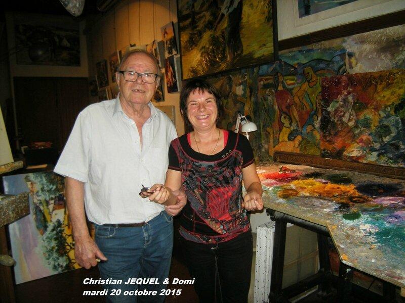 Rencontre avec l'Artiste Christian JEQUEL mardi 20 octobre 2015 040
