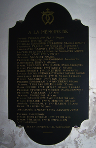 Plaque Souvenir Vendeen Melay 1
