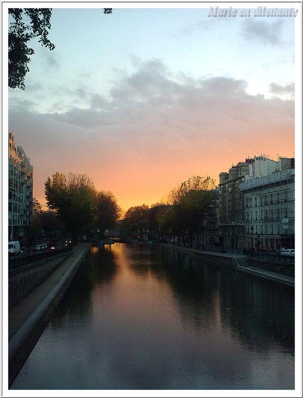 coucher de soleil sur le canal St Martin