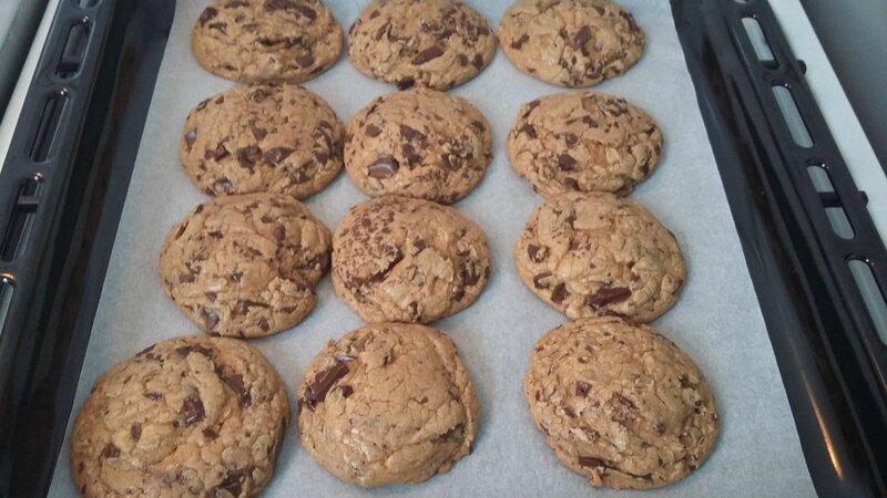 Cookies à la pâte de spéculoos et pépites de chocolat