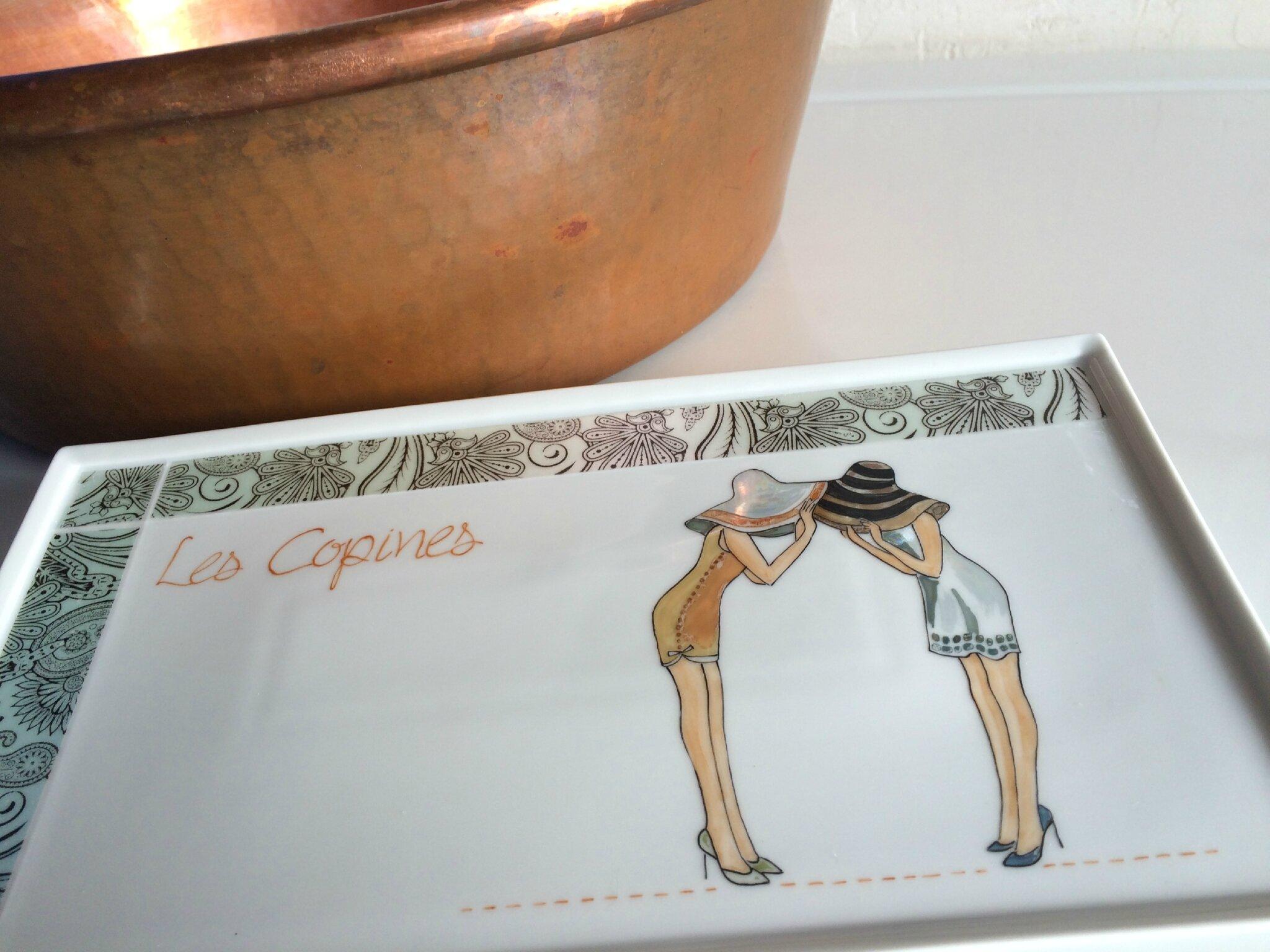 les copines perle de kaolin peinture sur porcelaine. Black Bedroom Furniture Sets. Home Design Ideas