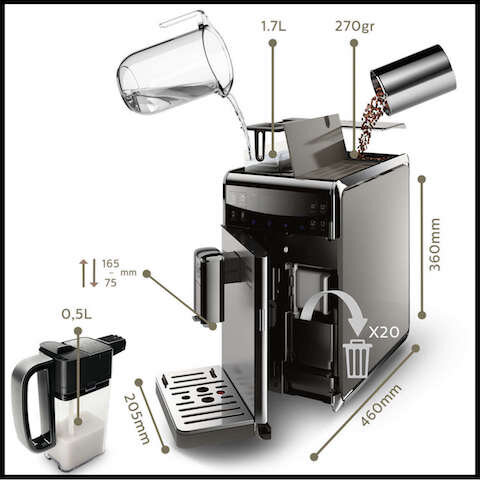 philips saeco granbaristo avanti machine espresso super automatique 3