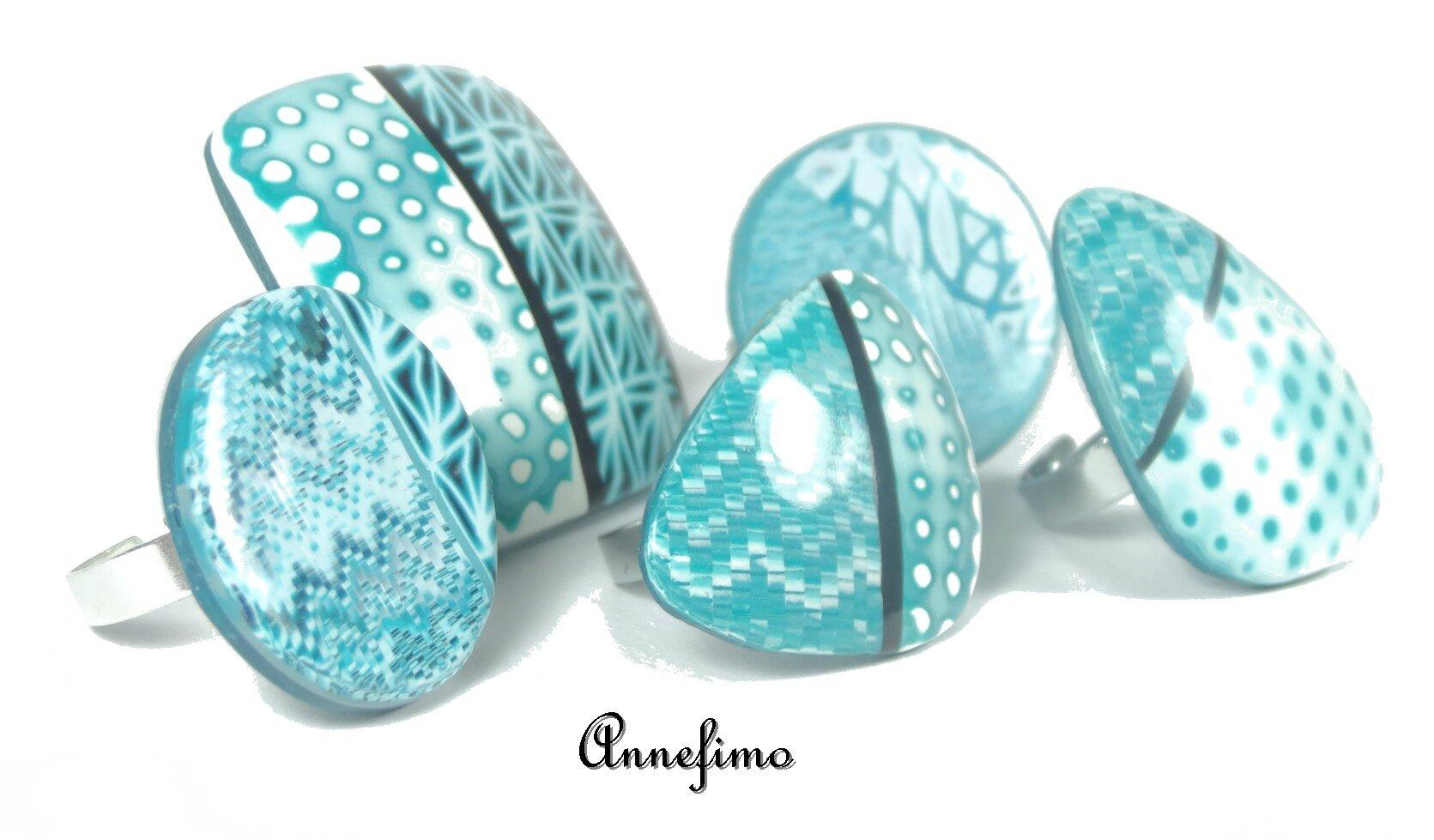 bagues bleues
