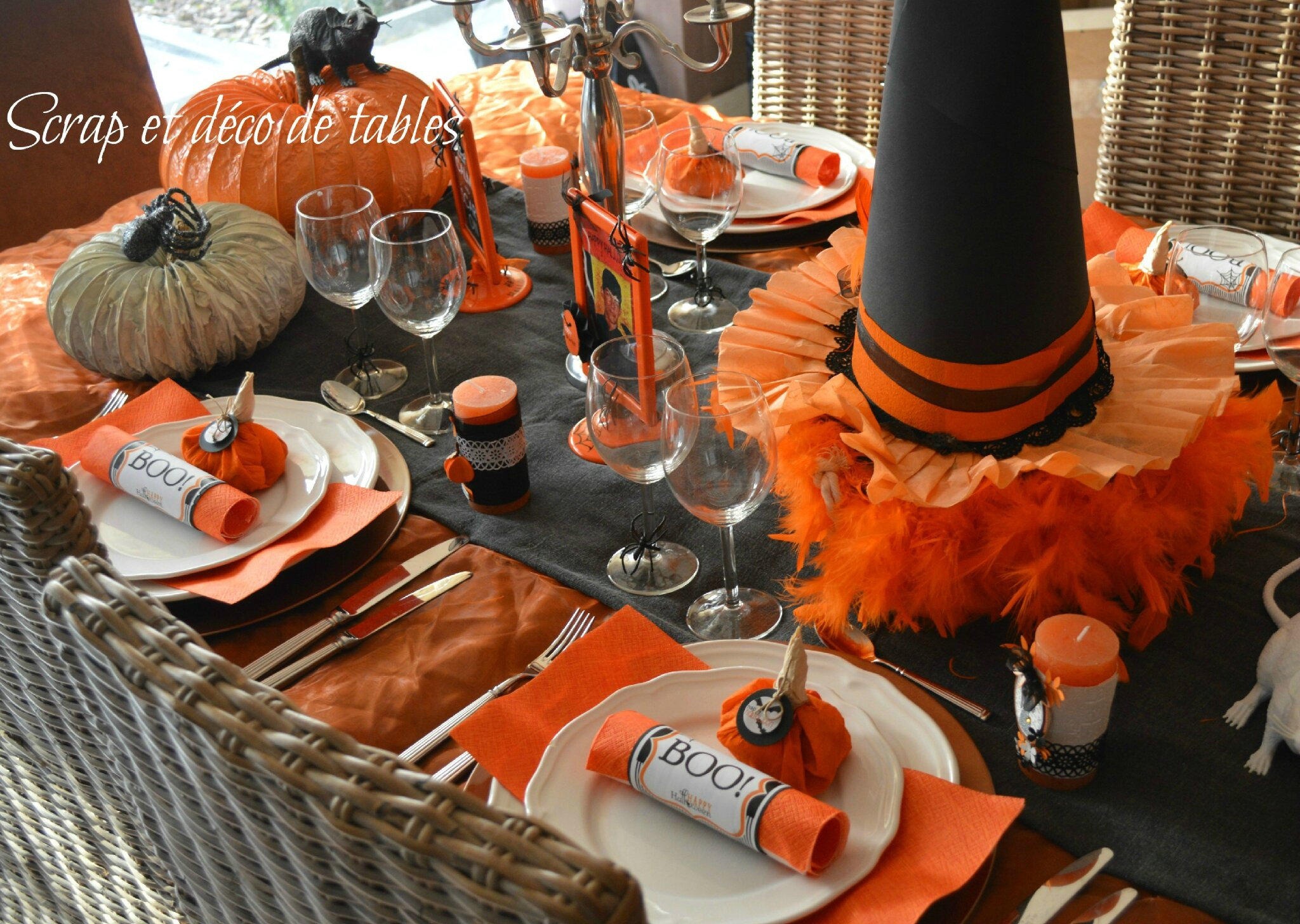 deco table halloween fait maison. Black Bedroom Furniture Sets. Home Design Ideas