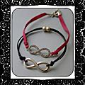 Duo bracelets infini