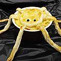 Timbales araignées de purée au jambon gratinées ( halloween )