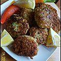 Galette de poulet au boulgour et légumes