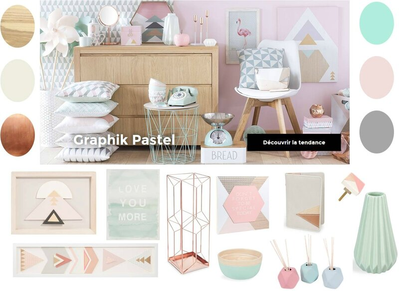 Inspiration collection printemps t 2016 maisons du for Tableau geometrique pastel