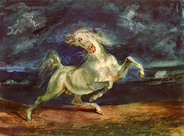 Eugene_Delacroix_Before_lightning_shrinking_of_horse