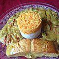 Saumon et riz bi-couleurs