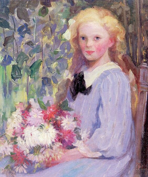 Palmer Pauline - Girl with flowers