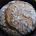 Pain de campagne aux graines cuisson en cocotte