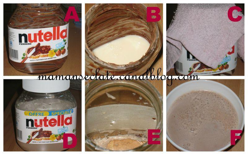 lait au nutella ou comment utiliser ses fonds de pot maman s 233 clate
