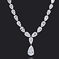 An elegant diamond necklace, by bulgari