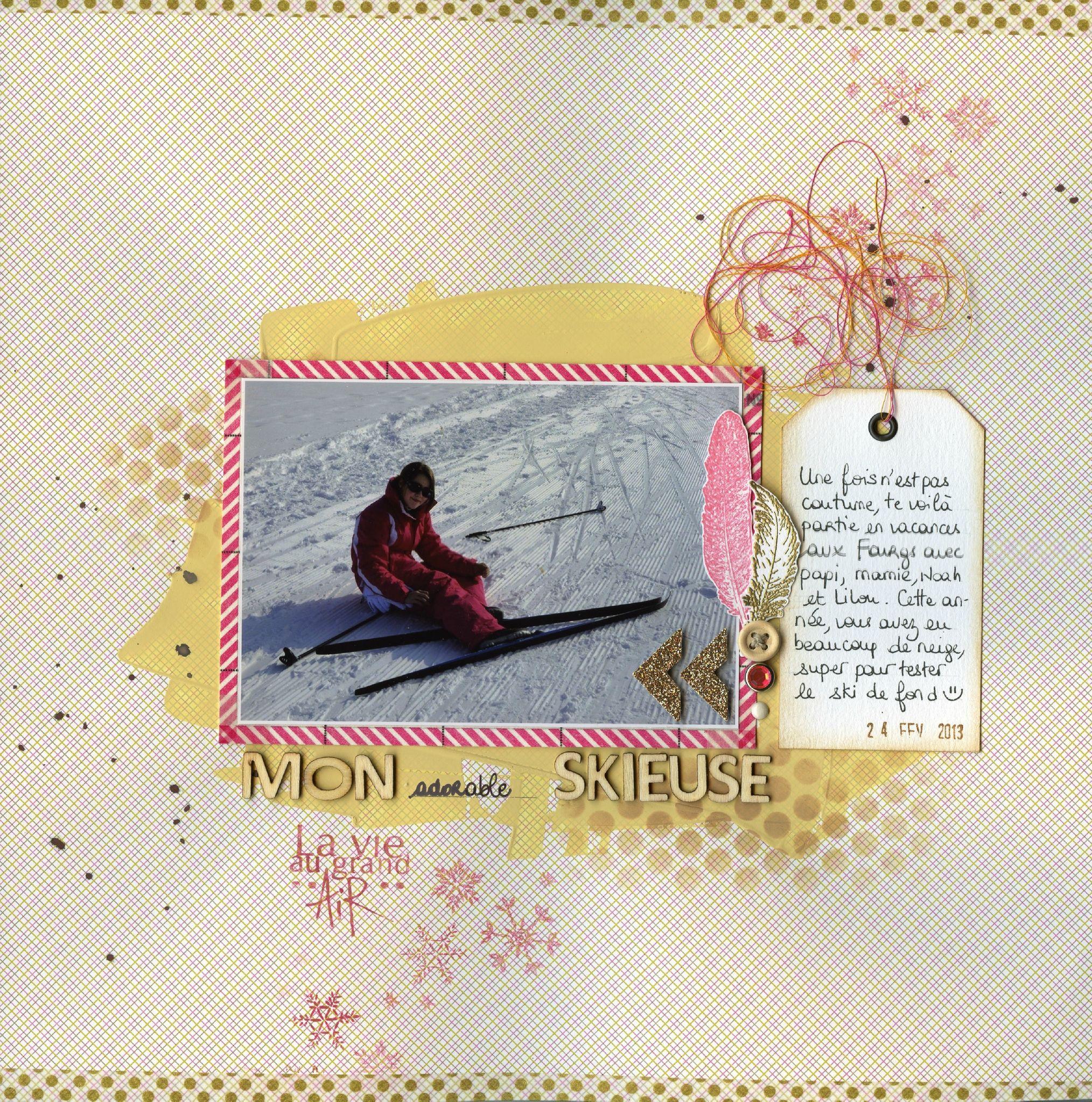 Mon adorable skieuse