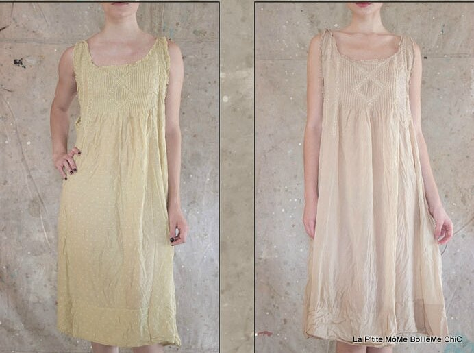 03-MP Mittie Slip dress with pintucks and antique lace, Papyrus - 052 Luella - 052