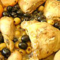 Tagine de poulet au citron confit et aux olives version n°3