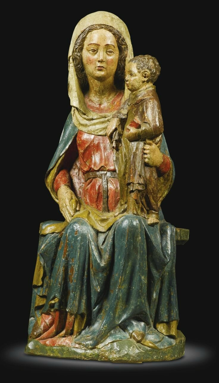 French, mid 14th century, Virgin and Child