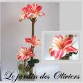 composition florale amaryllis-Amaryllis artificiel www.coeurdart