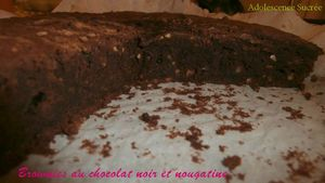 Brownies au chocolat noir et nougatine