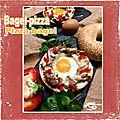 Bagel pizza...pizza bagel ....poulet poivron & fromage ail et fines herbes