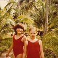 Thaïlande juillet 1987 avec mes niéces Sandrine et Céline